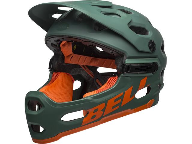 Frisk Bell Super 3R MIPS Cykelhjelm, matte dark green/orange | Find SQ-41